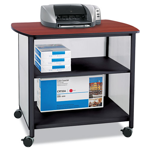Image for IMPROMPTU DELUXE MACHINE STAND, 34.75W X 25.5D X 31H, BLACK/CHERRY