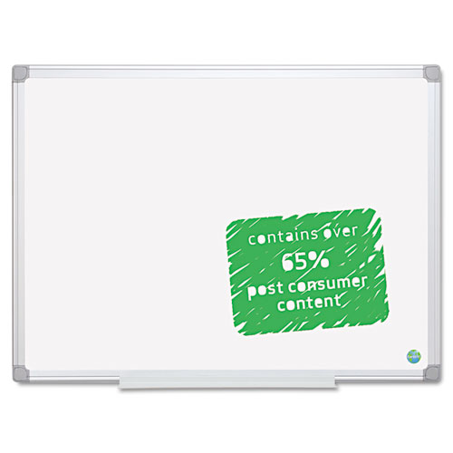 Earth Easy-Clean Dry Erase Board, 48 X 72, Aluminum Frame