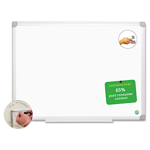 Earth Easy-Clean Dry Erase Board, White/silver, 24x36