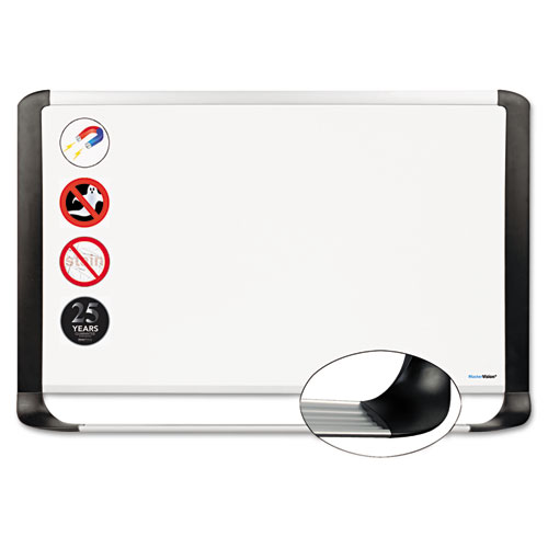 Porcelain Magnetic Dry Erase Board, 36 X 48, White/silver