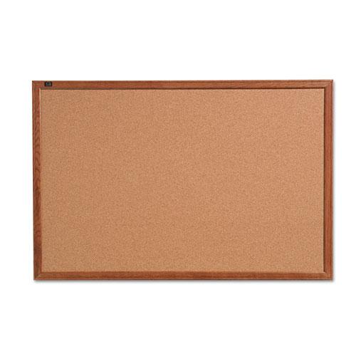 Cork Bulletin Board, 36 X 24, Oak Finish Frame