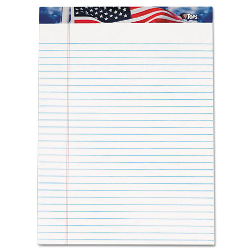 Image for AMERICAN PRIDE WRITING PAD, WIDE/LEGAL RULE, 8.5 X 11.75, WHITE, 50 SHEETS, 12/PACK