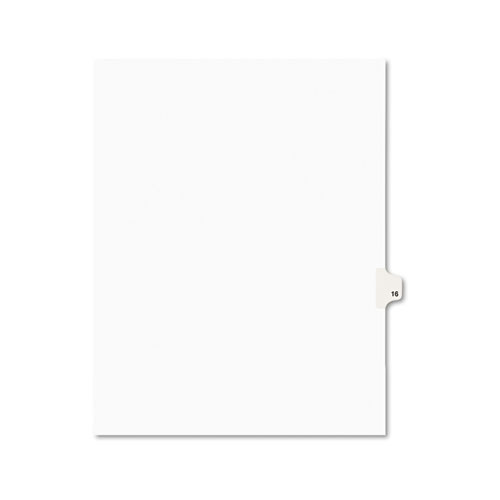 PREPRINTED LEGAL EXHIBIT SIDE TAB INDEX DIVIDERS, AVERY STYLE, 10-TAB, 16, 11 X 8.5, WHITE, 25/PACK