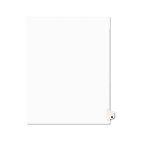 PREPRINTED LEGAL EXHIBIT SIDE TAB INDEX DIVIDERS, AVERY STYLE, 10-TAB, 25, 11 X 8.5, WHITE, 25/PACK