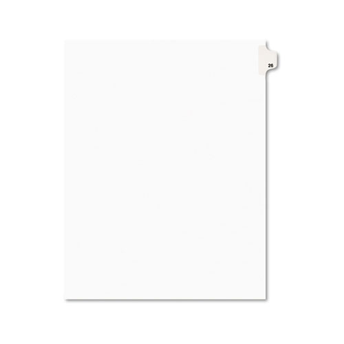 PREPRINTED LEGAL EXHIBIT SIDE TAB INDEX DIVIDERS, AVERY STYLE, 10-TAB, 26, 11 X 8.5, WHITE, 25/PACK