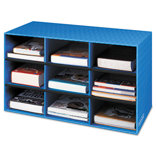 Image for Classroom Literature Sorter, 9 Compartments, 28 1/4 X 13 X 16, Blue