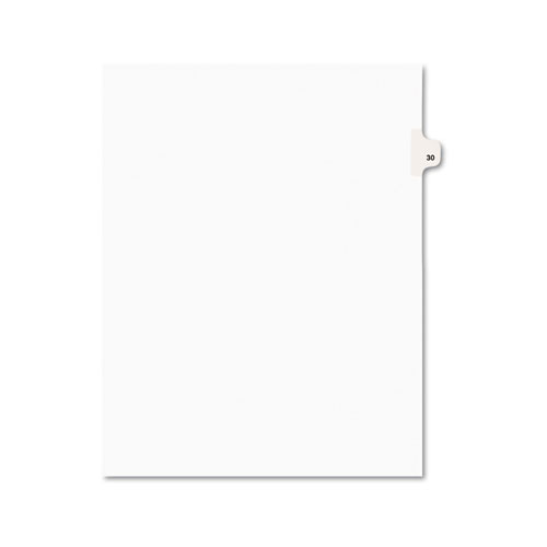 PREPRINTED LEGAL EXHIBIT SIDE TAB INDEX DIVIDERS, AVERY STYLE, 10-TAB, 30, 11 X 8.5, WHITE, 25/PACK, (1030)
