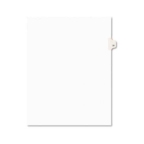 PREPRINTED LEGAL EXHIBIT SIDE TAB INDEX DIVIDERS, AVERY STYLE, 10-TAB, 31, 11 X 8.5, WHITE, 25/PACK