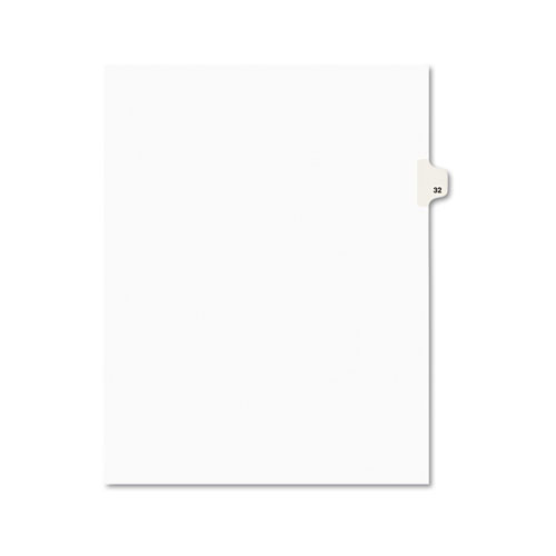 PREPRINTED LEGAL EXHIBIT SIDE TAB INDEX DIVIDERS, AVERY STYLE, 10-TAB, 32, 11 X 8.5, WHITE, 25/PACK