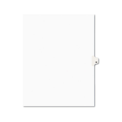 PREPRINTED LEGAL EXHIBIT SIDE TAB INDEX DIVIDERS, AVERY STYLE, 10-TAB, 38, 11 X 8.5, WHITE, 25/PACK, (1038)