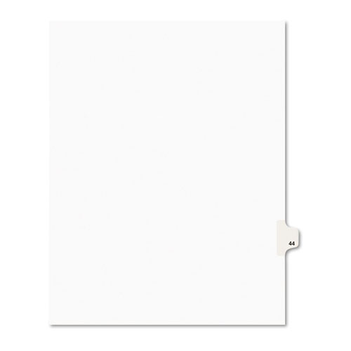 PREPRINTED LEGAL EXHIBIT SIDE TAB INDEX DIVIDERS, AVERY STYLE, 10-TAB, 44, 11 X 8.5, WHITE, 25/PACK