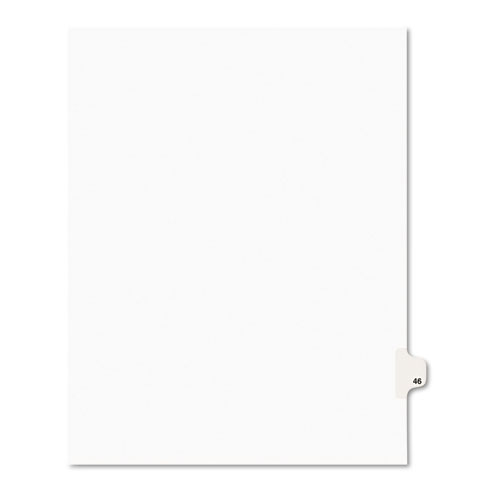 PREPRINTED LEGAL EXHIBIT SIDE TAB INDEX DIVIDERS, AVERY STYLE, 10-TAB, 46, 11 X 8.5, WHITE, 25/PACK