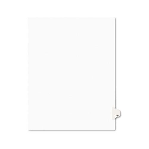 PREPRINTED LEGAL EXHIBIT SIDE TAB INDEX DIVIDERS, AVERY STYLE, 10-TAB, 48, 11 X 8.5, WHITE, 25/PACK