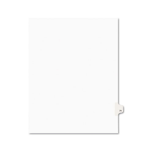 PREPRINTED LEGAL EXHIBIT SIDE TAB INDEX DIVIDERS, AVERY STYLE, 10-TAB, 71, 11 X 8.5, WHITE, 25/PACK