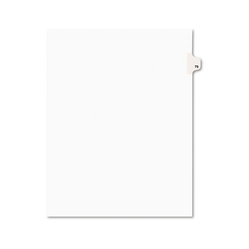 PREPRINTED LEGAL EXHIBIT SIDE TAB INDEX DIVIDERS, AVERY STYLE, 10-TAB, 79, 11 X 8.5, WHITE, 25/PACK