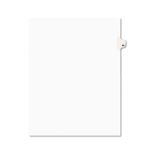 PREPRINTED LEGAL EXHIBIT SIDE TAB INDEX DIVIDERS, AVERY STYLE, 10-TAB, 80, 11 X 8.5, WHITE, 25/PACK