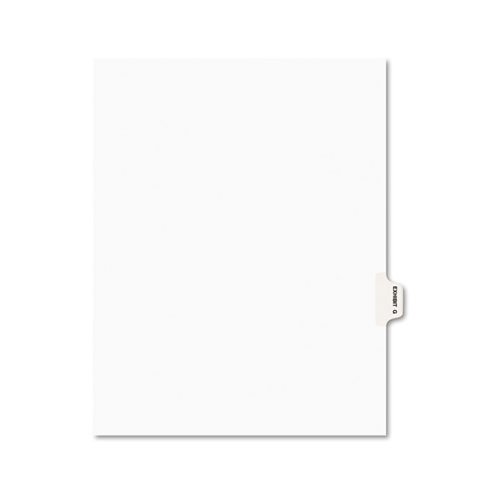 Avery-Style Preprinted Legal Side Tab Divider, Exhibit G, Letter, White, 25/pack
