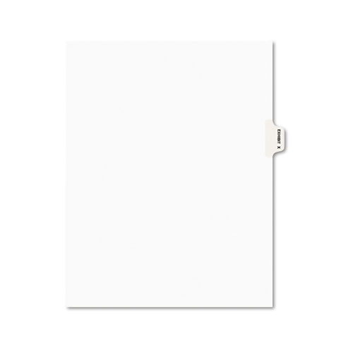 Avery-Style Preprinted Legal Side Tab Divider, Exhibit X, Letter, White, 25/pack