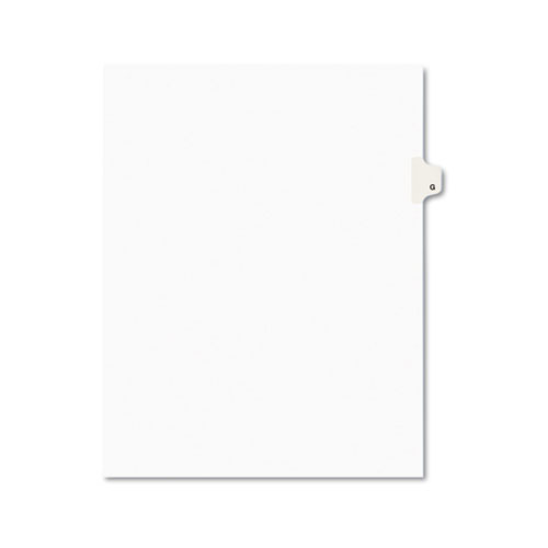 PREPRINTED LEGAL EXHIBIT SIDE TAB INDEX DIVIDERS, AVERY STYLE, 26-TAB, G, 11 X 8.5, WHITE, 25/PACK