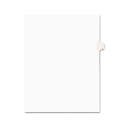 PREPRINTED LEGAL EXHIBIT SIDE TAB INDEX DIVIDERS, AVERY STYLE, 26-TAB, H, 11 X 8.5, WHITE, 25/PACK