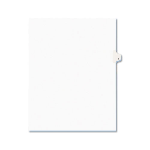 PREPRINTED LEGAL EXHIBIT SIDE TAB INDEX DIVIDERS, AVERY STYLE, 26-TAB, I, 11 X 8.5, WHITE, 25/PACK