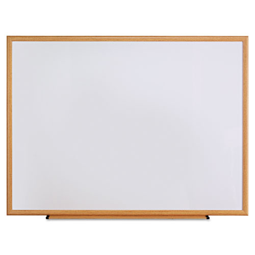Dry Erase Board, Melamine, 48 X 36, Oak Frame