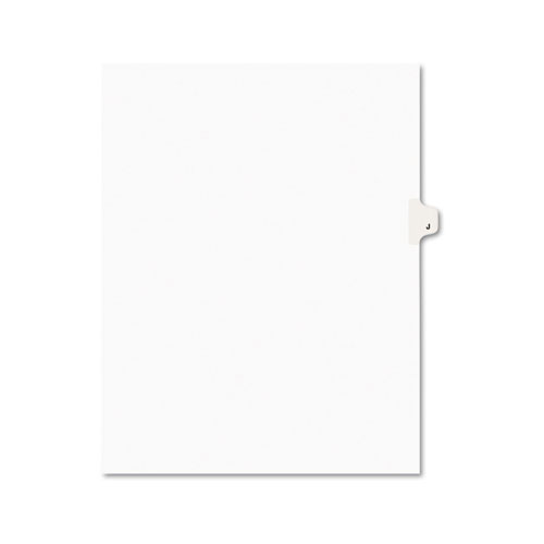 PREPRINTED LEGAL EXHIBIT SIDE TAB INDEX DIVIDERS, AVERY STYLE, 26-TAB, J, 11 X 8.5, WHITE, 25/PACK