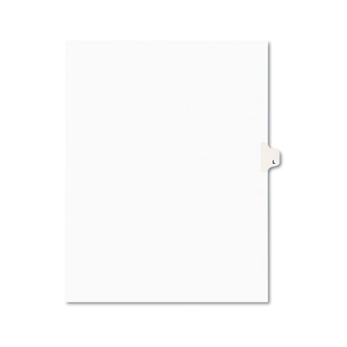 PREPRINTED LEGAL EXHIBIT SIDE TAB INDEX DIVIDERS, AVERY STYLE, 26-TAB, L, 11 X 8.5, WHITE, 25/PACK