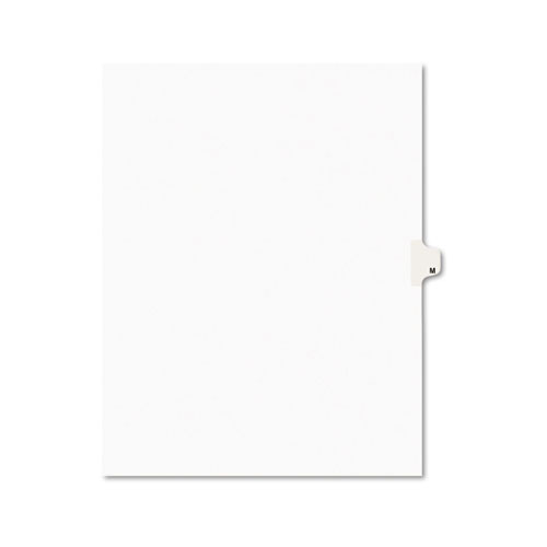 PREPRINTED LEGAL EXHIBIT SIDE TAB INDEX DIVIDERS, AVERY STYLE, 26-TAB, M, 11 X 8.5, WHITE, 25/PACK