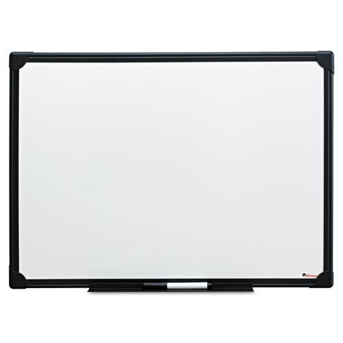 Dry Erase Board, Melamine, 24 X 18, Black Frame