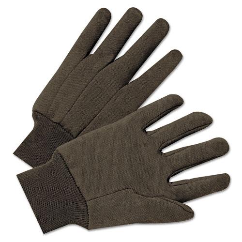 Jersey General Purpose Gloves, Brown, 12 Pairs