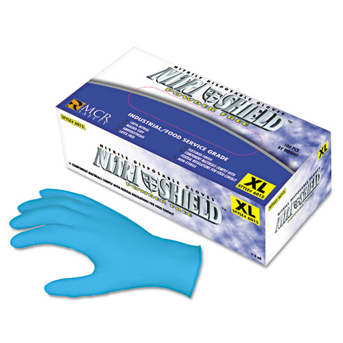 Disposable Nitrile Gloves, Large, 4 Mil, Powder-Free