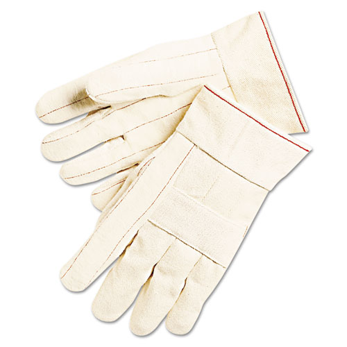 1000 Series Canvas Double Palm And Hot Mill Gloves, Men's, Pvc Dots