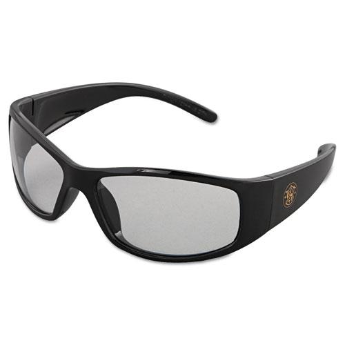 Elite Safety Eyewear, Black Frame, Clear Anti-Fog Lens