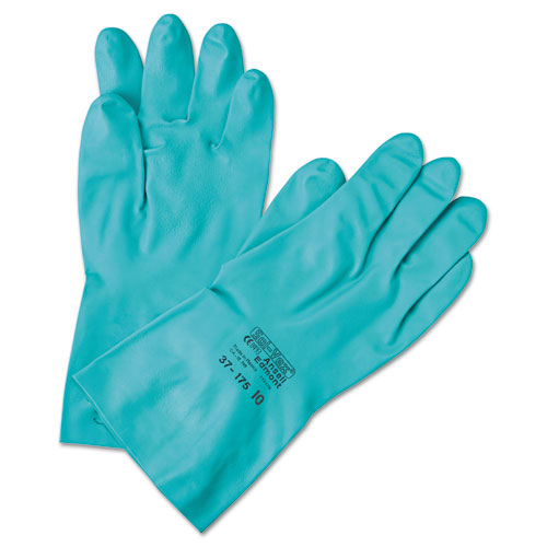 Sol-Vex Sandpatch-Grip Nitrile Gloves, Green, Size 8