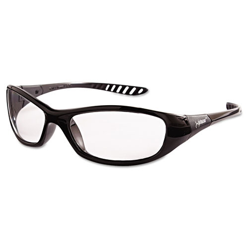 V40 Hellraiser Safety Glasses, Black Frame, Clear Lens