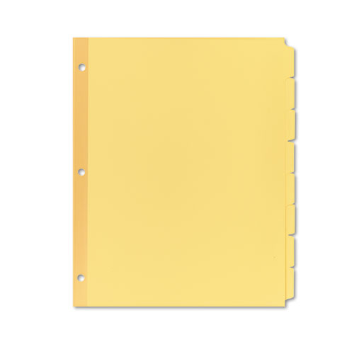 WRITE AND ERASE PLAIN-TAB PAPER DIVIDERS, 8-TAB, LETTER, BUFF, 24 SETS