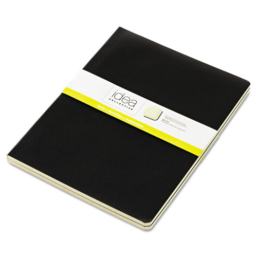 IDEA COLLECTIVE JOURNAL, 1 SUBJECT, WIDE/LEGAL RULE, BLACK COVER, 10 X 7.5, 48 SHEETS, 2/PACK