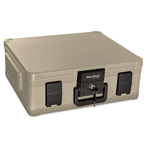 Image for FIRE AND WATERPROOF CHEST, 0.38 CU FT, 19.9W X 17D X 7.3H, TAUPE