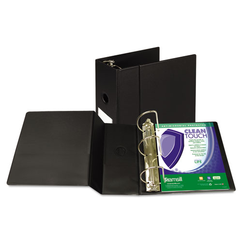 CLEAN TOUCH LOCKING D-RING REFERENCE BINDER PROTECTED W/ANTIMICROBIAL ADDITIVE, 3 RINGS, 5