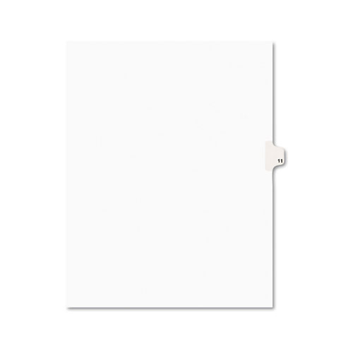 PREPRINTED LEGAL EXHIBIT SIDE TAB INDEX DIVIDERS, AVERY STYLE, 10-TAB, 11, 11 X 8.5, WHITE, 25/PACK