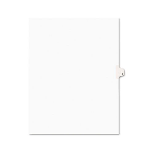 PREPRINTED LEGAL EXHIBIT SIDE TAB INDEX DIVIDERS, AVERY STYLE, 10-TAB, 12, 11 X 8.5, WHITE, 25/PACK