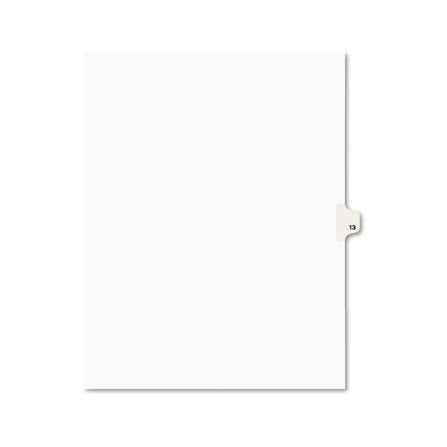 PREPRINTED LEGAL EXHIBIT SIDE TAB INDEX DIVIDERS, AVERY STYLE, 10-TAB, 13, 11 X 8.5, WHITE, 25/PACK