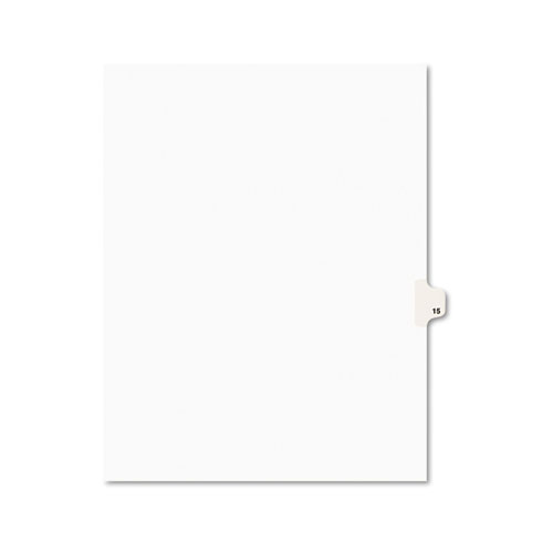 PREPRINTED LEGAL EXHIBIT SIDE TAB INDEX DIVIDERS, AVERY STYLE, 10-TAB, 15, 11 X 8.5, WHITE, 25/PACK