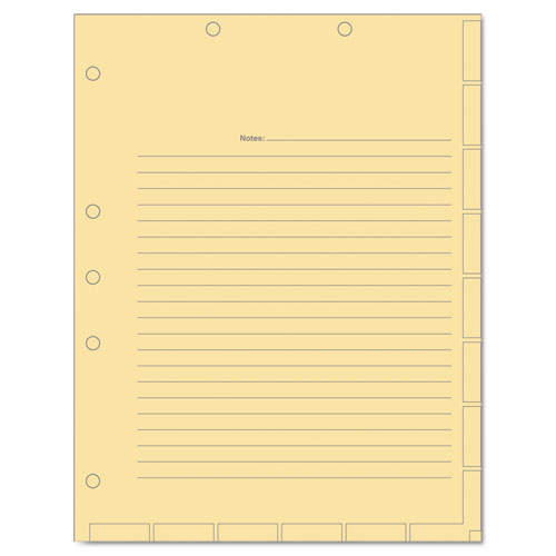 MEDICAL CHART INDEX DIVIDER SHEETS, 11 X 8.5, MANILA, 400/BOX