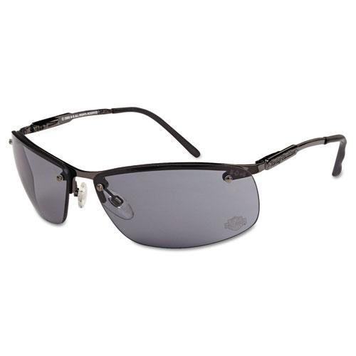 700 Series Safety Glasses, Gunmetal Frame, Gray Lens
