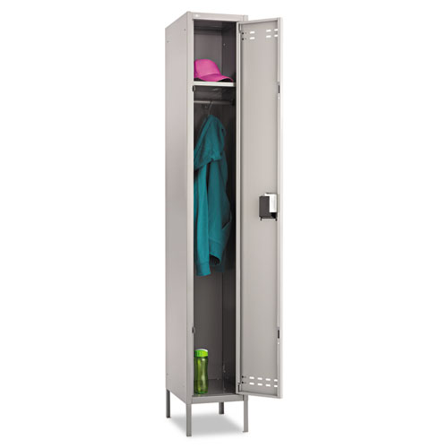 Image for Single-Tier Locker, 12w X 18d X 78h, Two-Tone Gray