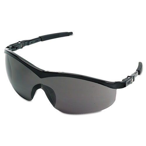 Storm Safety Glasses, Black Frame, Gray Lens, Nylon/polycarbonate