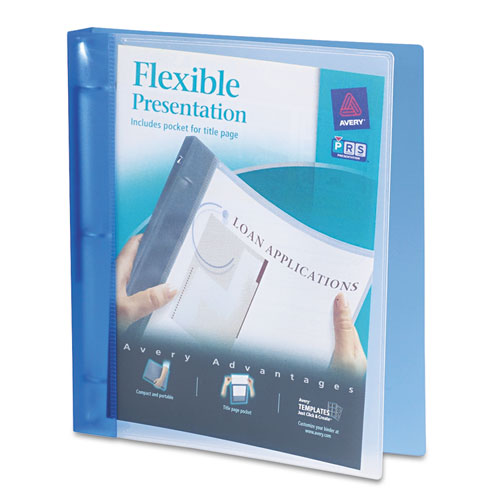 FLEXIBLE VIEW BINDER WITH ROUND RINGS, 3 RINGS, 1