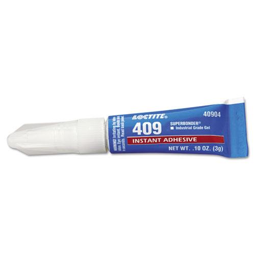 Image for 409 SUPER BONDER INSTANT ADHESIVE, GENERAL PURPOSE GEL, 0.10 OZ, DRIES CLEAR